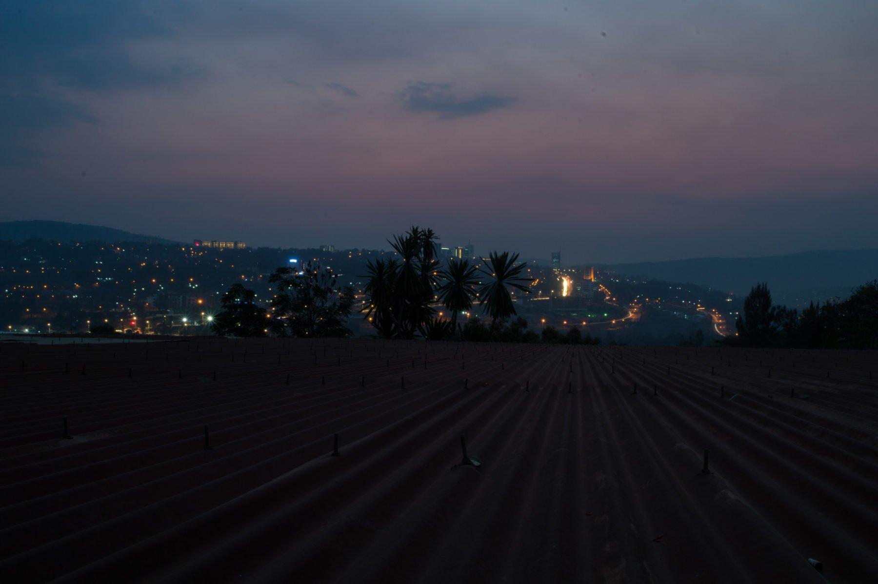 Nightfall over Kigali, Rwanda